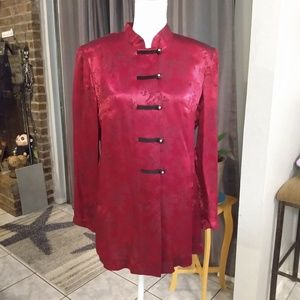 R&M Richards red oriental style jacket